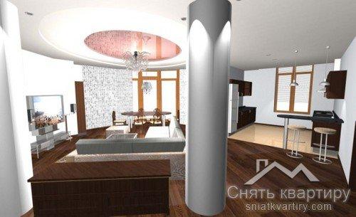 Аренда квартиры без мебели в ЖК Дипломат Холл улица Жилянская 59