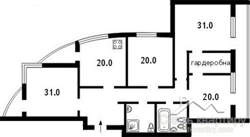Аренда пятикомнатной квартиры в ЖК Волна